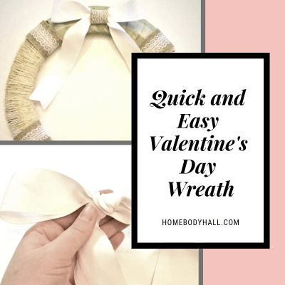 Quick and Easy Valentine's Day Wreath