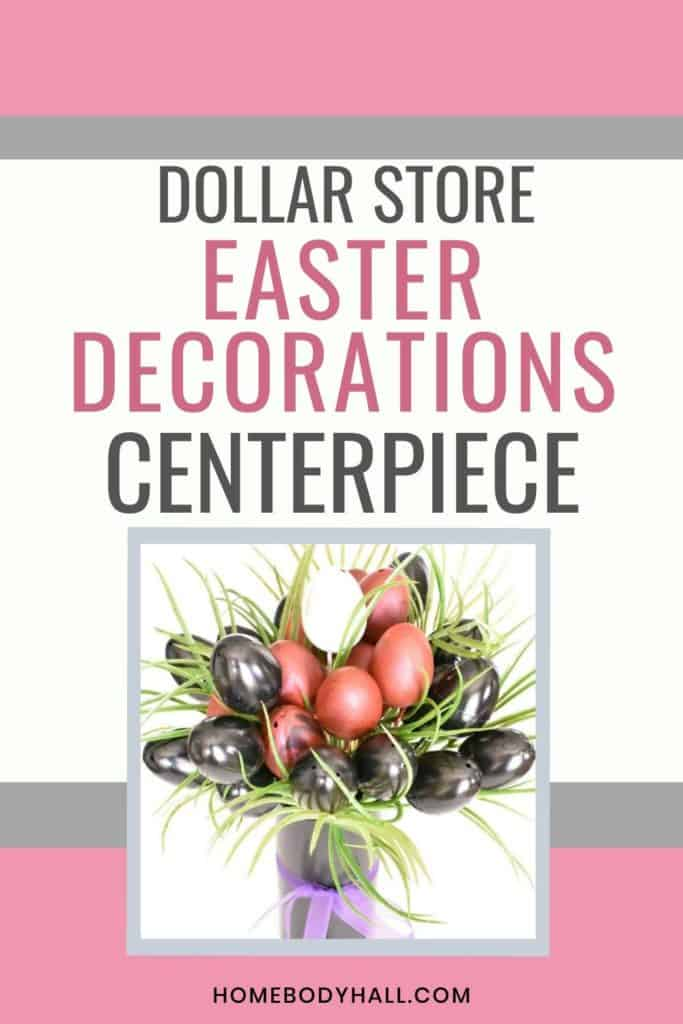Dollar Store Easter Decorations: Centerpiece