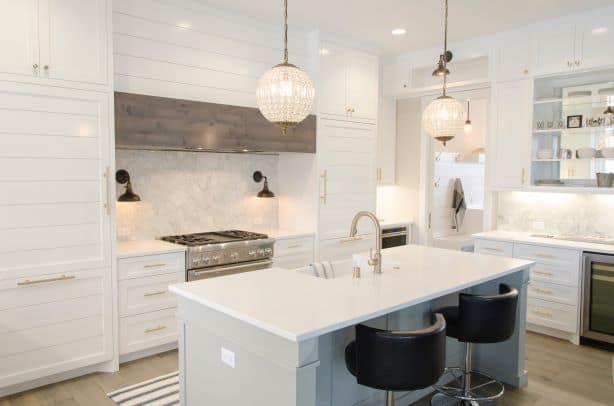 symmetry in white kitchen