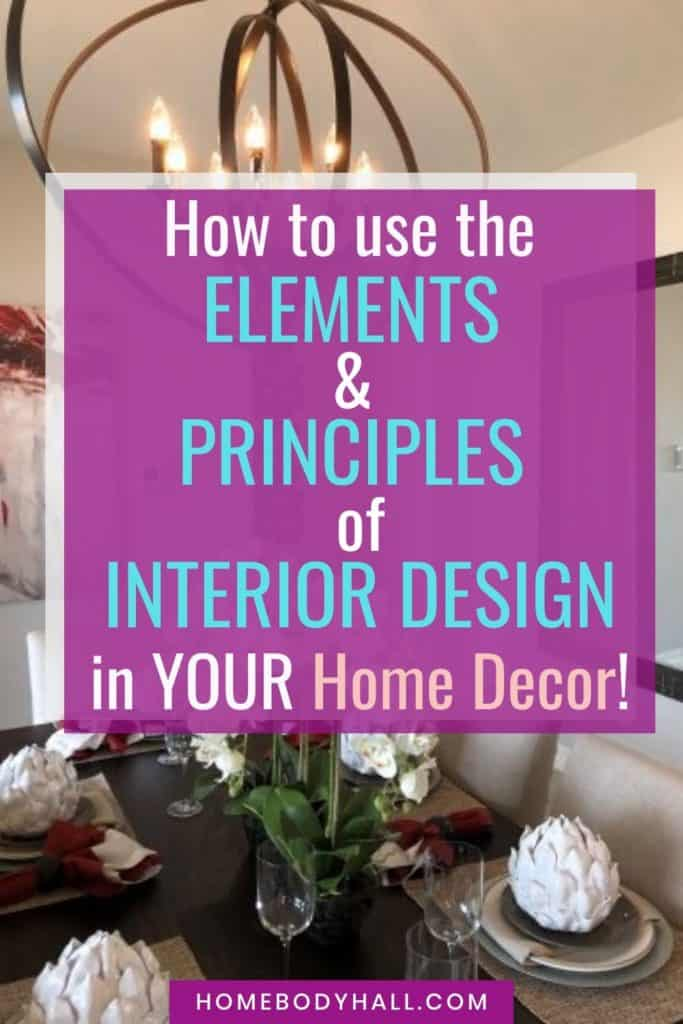 How to Use the Elements and Principles of Design in YOUR Home Decor!