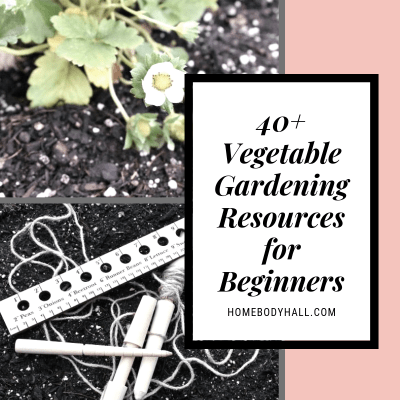 40+ Vegetable Gardening Resources for Beginners