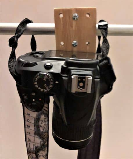 overhead camera mount holding camera