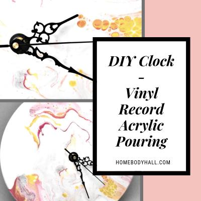 DIY Clock - Vinyl Record Acrylic Pouring