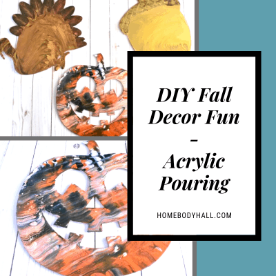 DIY Fall Decor Fun Acrylic Pouring