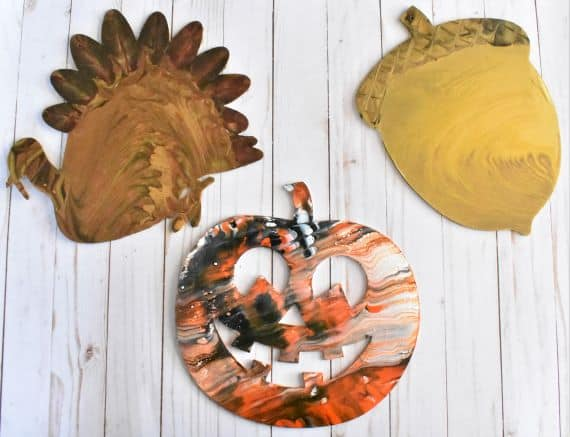 Fall Decor Acrylic Pouring
