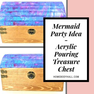 Mermaid Party Idea Acrylic Pouring Treasure Chest