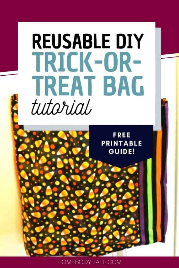 Complete reusable DIY Trick-or-Treat bag