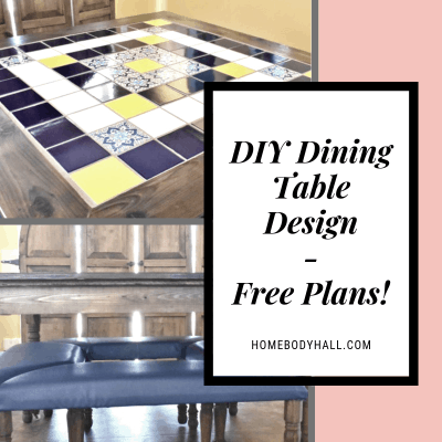 DIY Dining Table Design - Free Plans!