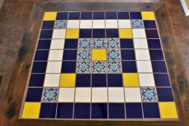 DIY Dining Table Talavera Tile Top