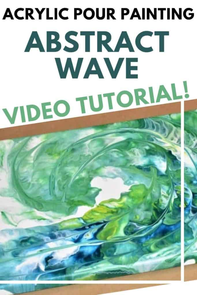 Acrylic Pour Painting Abstract Wave video Tutorial