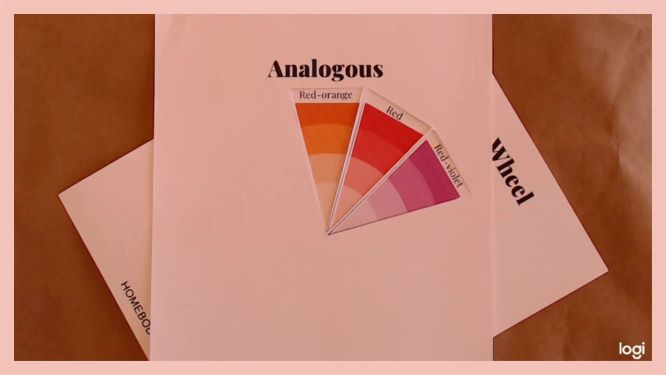 Analogous color scheme of red, red-orange, and red-violet