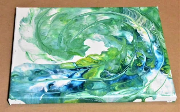 Abstract wave painting Day 19 Acrylic Pouring Color Theory Series