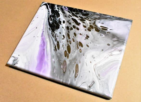 Flip and Drag Acrylic Pour Technique