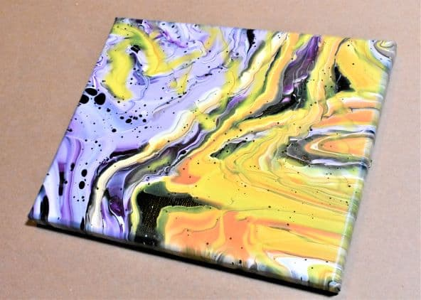 Day 27 Acrylic Pouring Color Theory Series DIY Wall ARt