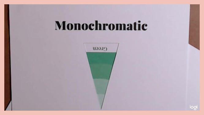 monochromatic color scheme on color wheel: green