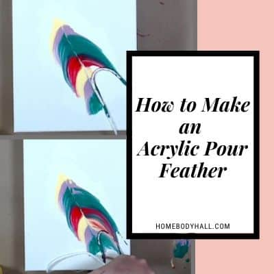 How to Make an Acrylic Pour Feather