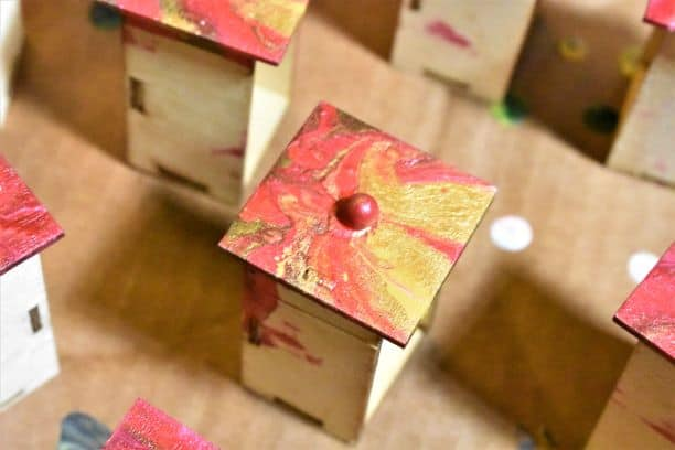 Drawers of Wooden tree-shaped DIY Advent Calendar
