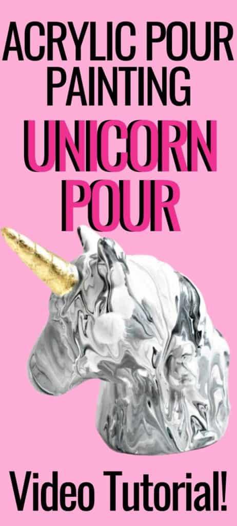 Acrylic Paint Pouring Unicorn Pour Video Tutorial