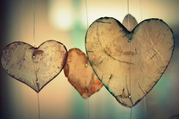 Family-friendly wood heart Valentine's Day Decorations