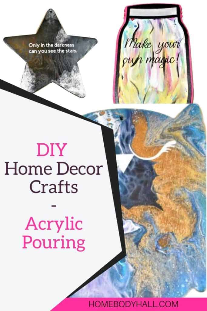 DIY Home Decor Crafts Acrylic Pouring