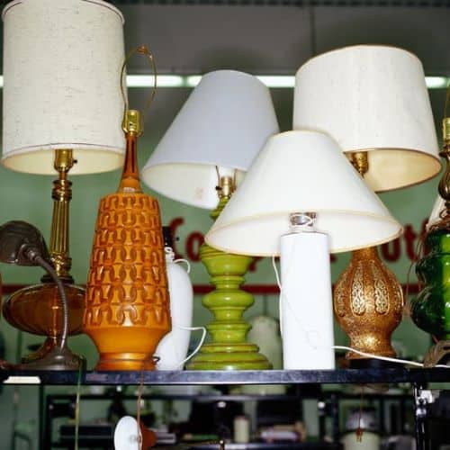 Thrift shopping for lamps