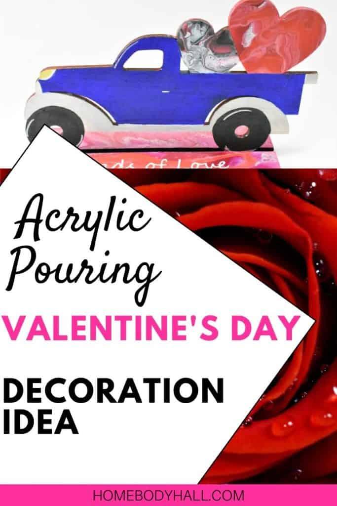 Valentine's Day Decoration Idea - Acrylic Pouring