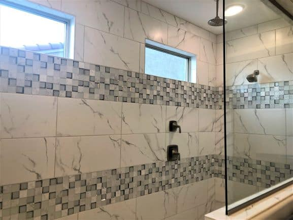 2020 Home Trends Huge Shower and Two Shower Heads