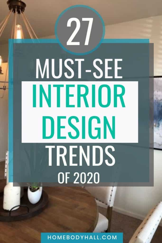 27 Must-see Interior Design Trends of 2020