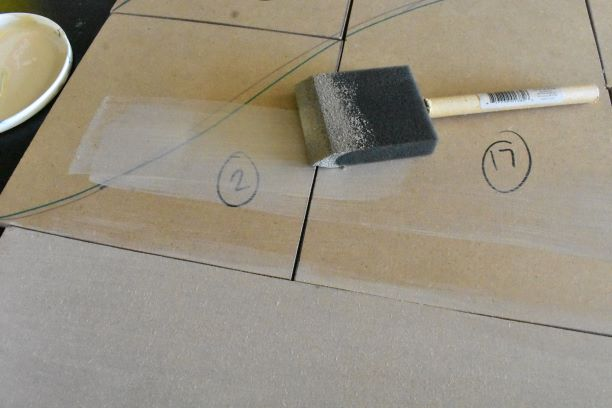 foam brush for priming on top of MDF canvas