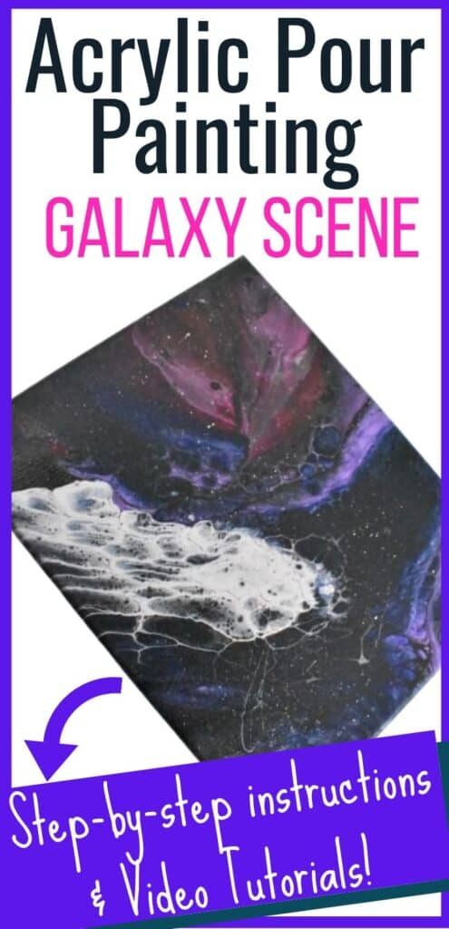 Acrylic Paint Pouring Galaxy Scene!