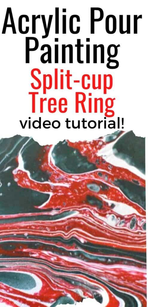 Acrylic Pour Painting Split-cup Tree Ring Video Tutorial