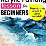 Beach Scene Acrylic Pouring Lesson for Beginners