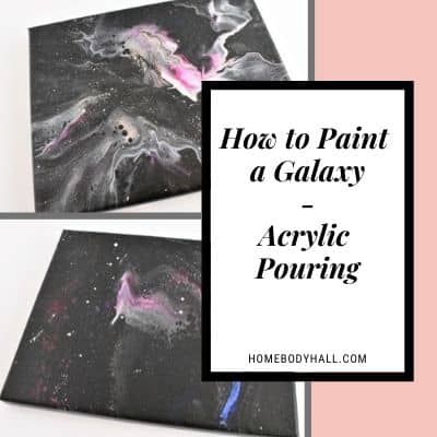 How to Paint a Galaxy - Acrylic Pouring