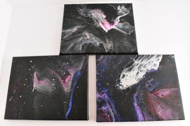 Three different methods of how to paint a galaxy
