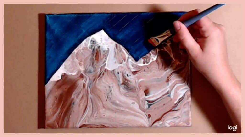 fill in the background of your mountain painting