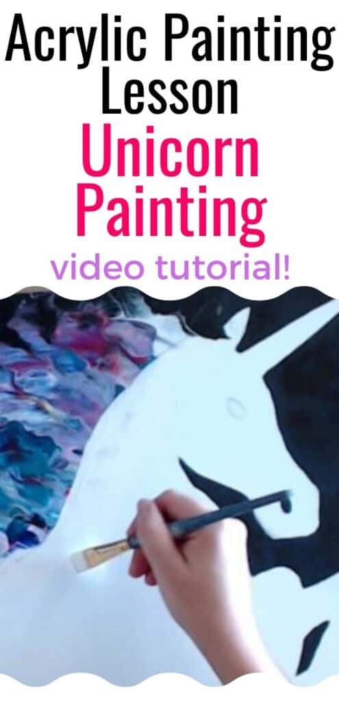 Acrylic Painting Lesson Unicorn Painting Video Tutorial