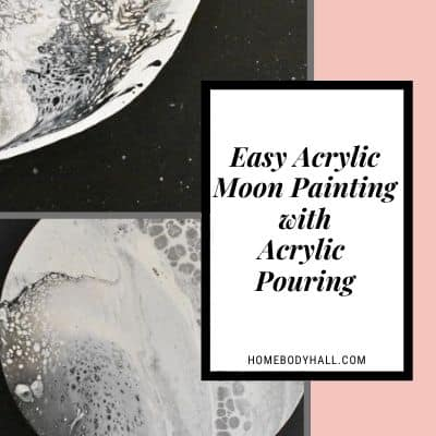 Easy Acrylic Moon Painting with Acrylic Pouring