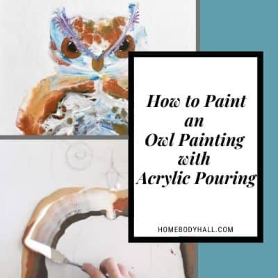 How to Paint an Owl Painting with Acrylic Pouring