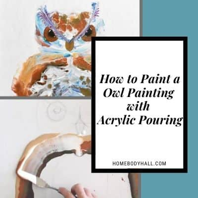 How to Paint a Owl Painting with Acrylic Pouring