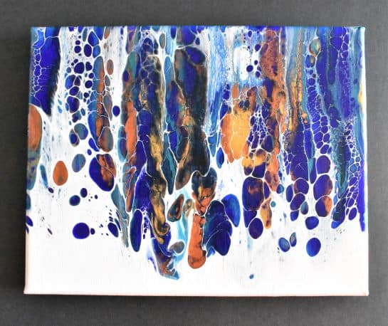 completed waterfall painting swipe technique