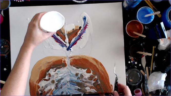 painting the owl's head