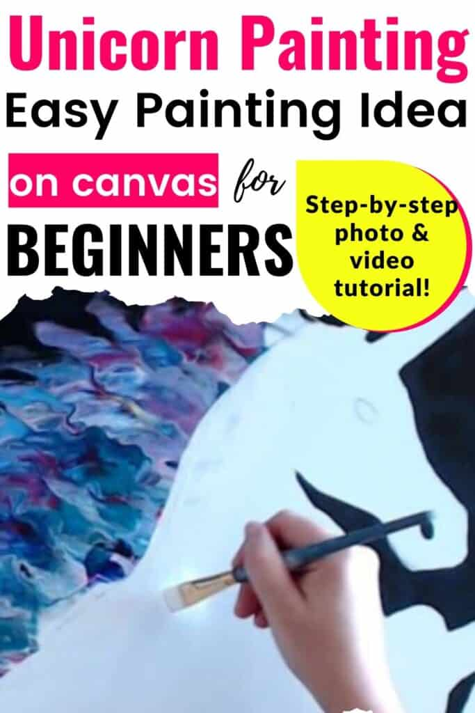 Unicorn Painting Easy Painting Idea on Canvas for Beginners