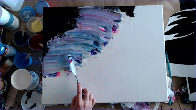 swipe the mane out on your unicorn painting