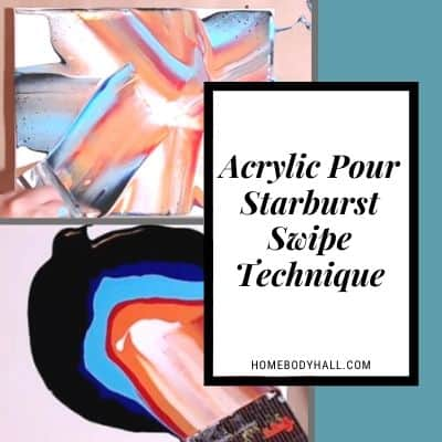 Acrylic Pour Starburst Swipe Technique