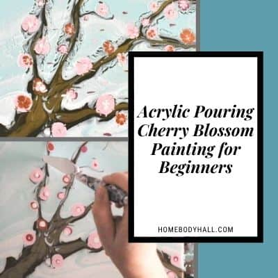 Acrylic Pouring Cherry Blossom Painting for Beginners