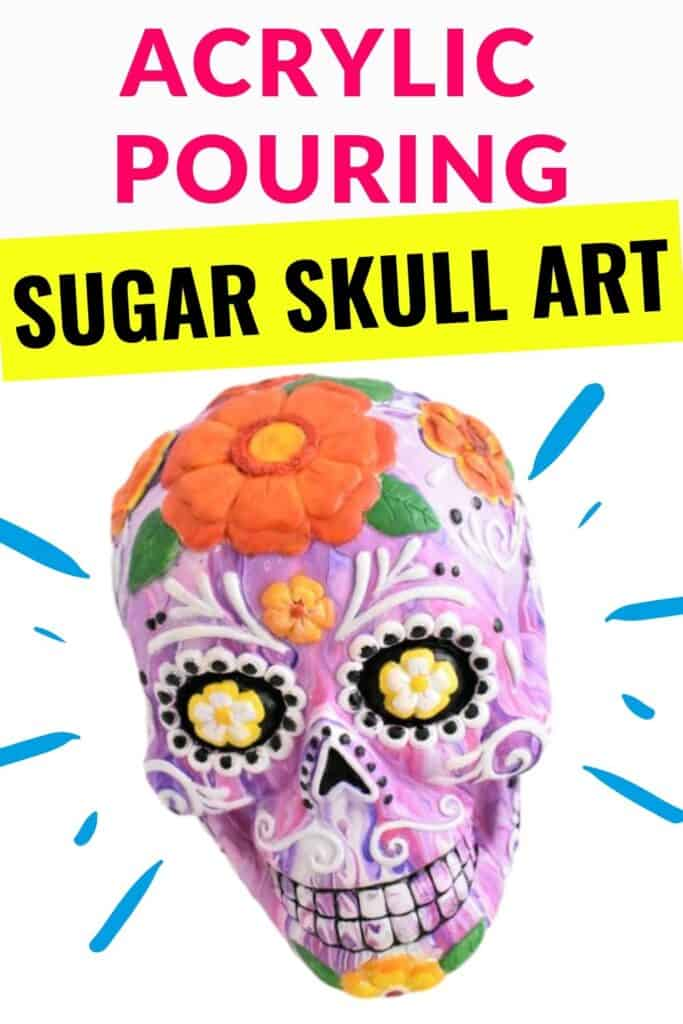 Acrylic Pouring Skull Art