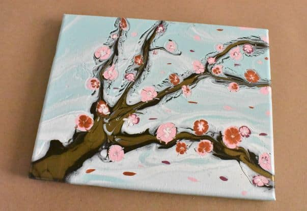 Completed Cherry Blossom Painting