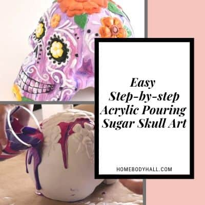 Easy Step-by-step Acrylic Pouring Sugar Skull Art