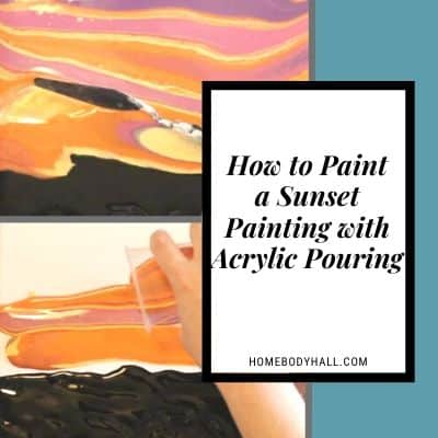 How to Paint a Sunset Painting with Acrylic Pouring