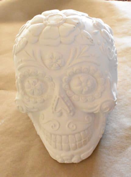 plaster sugar skull before paint